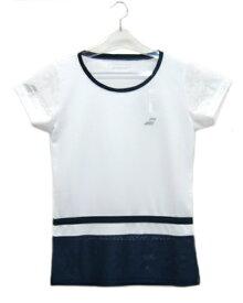 バボラ BABOLAT レディース ショートスリーブシャツ 20SS レディースゲームウエア BTWLJA07-WH (ホワイト)