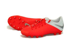 ナイキ Nike ジュニア ハイパーヴェノム 3 アカデミー HG 18FA ジュニア サッカースパイク AJ3787-600 (ライトクリムゾン/メタリックダークグレー)