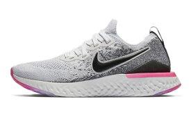ナイキ Nike ウイメンズ エピック リアクト フライニット2 レディースランニングシューズ BQ8927-103 (ホワイト/ハイパーピンク/ブルーティント/ブラック)
