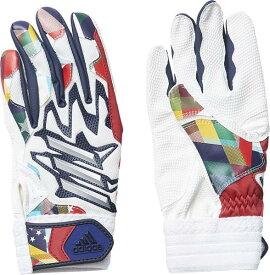 アディダス adidas 5T バッティンググラブJr NEW バッティンググラブ FTK84-ED1847(ホワイト/カレッジネイビー)