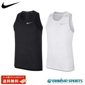 ナイキ メンズ トップス Tシャツ ランニング ジム 陸上 スポーツ ホワイト ブラック AJ7563 Nike DRI-FIT マイラータンク