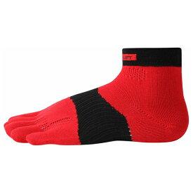 ベンゼネラル BEN-GENERAL ra3001-redblk 5本指 ランニングソックス 武田レッグウェアの靴下