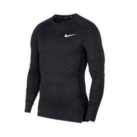 ナイキ Nike ナイキプロ ロングスリーブ メンズインナー 長袖 アンダーシャツ コンプレッション 陸上 ランニング アンダーウェア スポーツウェア トレーニング UV トップス BV5589-010 黒 ブラック