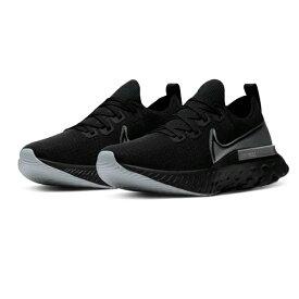 ナイキ Nike リアクト インフィニティ ラン フライニット NEW ランニングシューズ CD4371-001(ブラック/メタリックシルバー/ダークグレー)