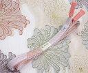 夏物処分SALE!正絹 夏向き 帯締め 夏高麗組白地 ローズピンク柄組 撚り房 渡敬謹製夏の帯締め 組紐【送料無料…