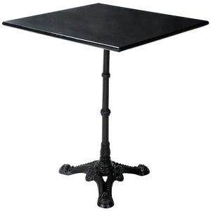 御影石テーブル ブラック 正方形 600角 60cm 天板と脚部セット|御影石 花崗岩 天板 綺麗 おしゃれ アンティーク 高級感 北欧 四角 スクエア
