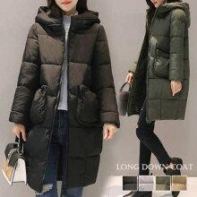 ロングコートレディースフード付きコートアウター軽い暖かい通勤コート防寒