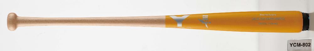 【野球 ヤナセ 硬式木製バット BFJ】ヤナセ 硬式用木製バット(YCM-802) ■84.5cm(900g平均) ■85.5cm(900g平均) ■北米産メイプル ■淡黄色×ナチュラル ■ナチュラル ■トップバランス ■BFJマーク付き ■社会人野球 ■大学野球