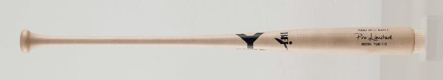 2018年NEWモデル【野球 ヤナセ 硬式木製バット BFJ】ヤナセ メイプル1本木 硬式用木製バット(YUM-113) ■84.5cm(900g平均) ■ナチュラル ■セミトップバランス ■BFJマーク付き ■社会人野球 ■大学野球