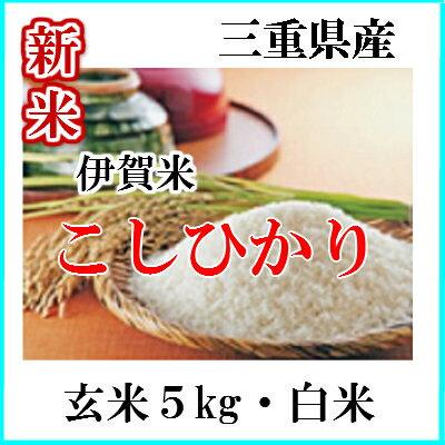 お米 5kg伊賀コシヒカリ(玄米)(白米)送料無料 三重県伊賀米29年産伊賀こしひかり玄米から精米選択可能