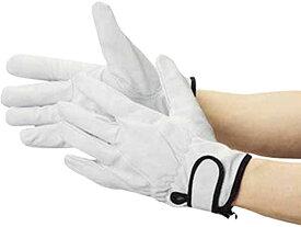 豚革裏地付マジック止め式手袋L[TYK717L](シルバー)