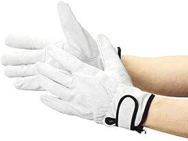 豚革裏地付マジック止め式手袋M[TYK717M](シルバー, Mサイズ)