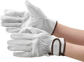 マジック式手袋 豚本革製当て付Mサイズ[TYK718M](シルバー)