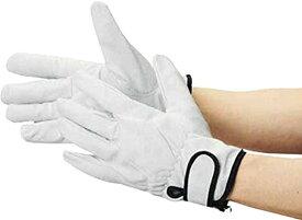 豚革裏地付マジック止手袋 LLサイズTYK717LL[TYK717LL](シルバー, XL)