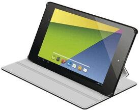 「2013年モデル」ELECOM 新型Nexus7 2013年モデル対応 レザーカバー フラップ付4段階[TB-ASNXAPLF2BK](ブラック)