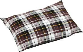 CAPTAIN STAG キャンプ用品 洗える 枕 キャンピング ピロー [最低使用温度10度][UB-18](ブラウンチェック, 40×25×10)