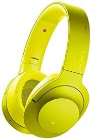 ワイヤレスノイズキャンセリングヘッドホン h.ear on Wireless NC MDR-100ABN : ハイレゾ/Bluetooth対応 マイク付き ライムイエロー Y MAIN-32263(ライムイエロー)