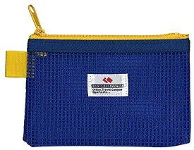 メッシュケース 片面ネットタイプ カードサイズ 小[NK-44-BU](ブルー, カード 小 ブルー)