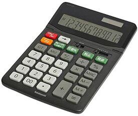 電卓 12桁 L[ECD-SD03BK](ブラック, Lサイズ)
