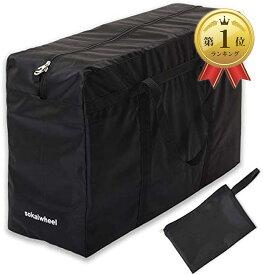 折りたたみ式トートバッグ 100L 黒