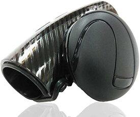 ハンドルスピンナー 簡単取付10秒 カーアクセサリー 車用 回転補助 切り返し 片手で楽々 女性 ブラック ブルー カーボンブラック 改良型(カーボンブラック(改良型))