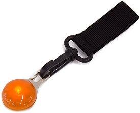 モノライフ 夜間 ランニング LED ライト ジョギング ウォーキング ウエストポーチ ランニングポーチ 用(オレンジ)
