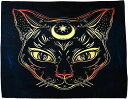 大判 タロットクロス 95cm タロット占い タペストリー 猫 ホロスコープ 占星術 MAGIC CAT(MAGIC CAT, 95cm×73cm)