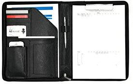 クリップ ファイル ボード PUレザー 多機能 フォルダー オーガナイザー OF273(黒色, A4)