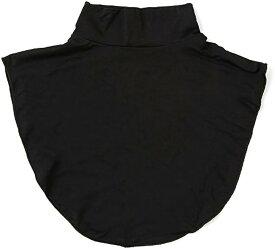 タートルネック 付け襟 ハイネック インナー レディース 黒(ブラック, フリーサイズ)