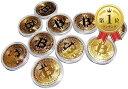 ビットコイン レプリカ Bitcoin replica 金10枚セット(ビットコイン(金)10枚セット)
