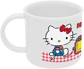 子供用 コップ ハローキティ ギンガムチェック サンリオ 日本製[KE4A](ホワイト, 200ml)