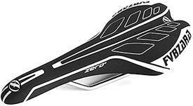 morytrade サドル 自転車 ロード MTB ピスト シクロクロス トラック バイク 軽量 レース(ホワイト)