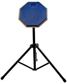 ドラム トレーニングパッド 練習用パッド 8インチ スタンド付き(ブルー)
