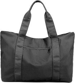 トートバッグ 大容量 防水 ナイロン 大きめ 旅行鞄 キャリーオンバッグ 肩掛け 手提げ 2WAY SH314(グレー, 35L、15.6型ノートPC)