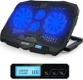 世界で9万台販売 強冷 超 静音 ノートPCクーラー 大型 冷却ファン ノートパソコン 冷却パッド 冷却台 クール 超静音 4冷却ファン 2口USBポート 17インチ型まで対応 ps3 ps4 LED搭載 風量調節可 ブルー(ブルー LED)