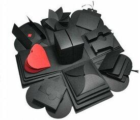 サプライズ ボックス DIY 手作りアルバム 誕生日 記念日 プレゼント BOX インスタ映え(ブラック)