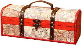 アンティーク調 ワインバッグ 木製 シャンパン ボトルバッグ 収納 ケース 持ち運び 手提げ袋 選べるタイプ W50(Bタイプ)