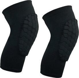 膝パッド 2枚セット 作業用 膝当て 膝サポーター ニーパッド 痛み 対策 園芸 e257(ブラック, L)