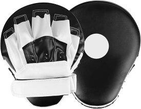 パンチングミット ボクシング 2個セット キックボクシング テコンドー ムエタイ 空手 格闘技 トレーニング用(黒白)