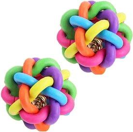 噛むおもちゃ 犬 猫 子犬 小型犬 玩具 ボール ゴム 運動 運動不足 ストレス 解消 運ぶ 7.5cm(2個)