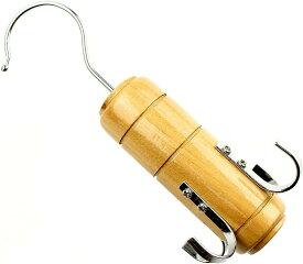 木製 ネクタイハンガー ベルトハンガー 4本 仕様 たっぷり収納 スカーフ H7(ブラウン)
