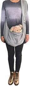 ペット用スリング ドッグ/キャットスリング 抱っこ紐 キャリーバッグ ペットバッグ スリングバッグ 斜め掛け 5kg以内(グレー)