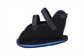 ギプス用 シューズ 保護 靴 歩行サポート 左右兼用 片足1足 ブラック(ML)