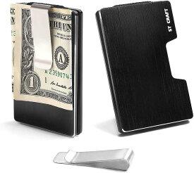 STCRAFT マネークリップ カードケース スキミング防止 RFID メンズ チタンアルミ 8色(ブラック)