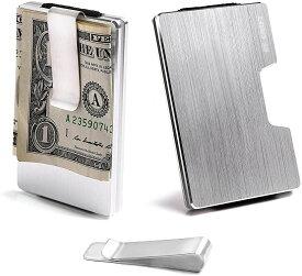 STCRAFT マネークリップ カードケース メンズ カード入れ スキミング防止 8カラー(シルバー)