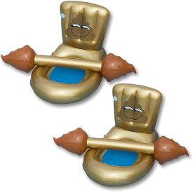 夏 プール おもちゃ トイ 海 子供 大人 水遊び ハンマー 2セット うんち型 便座型チェア 浮き袋 浮き輪 ゴールドチェア MDM(うんち型(ゴールドチェア))