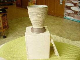 和風テイストのコルク風ワイングラス・木箱入り