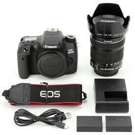 Canon キャノン 一眼レフカメラ EOS 8000D(W)EOS 8000D・EF-S18-135 IS STM レンズキット バッテリー・充電器付属【送料無料】【中古】【カメラ】