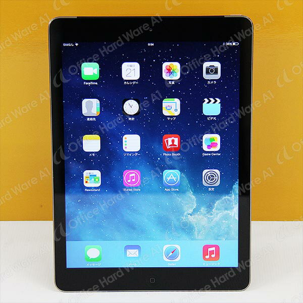 Apple AU ipad Air 本体 Wi-Fi CellulariOS 7.1.2(11D257)16GB【MD791JA/A】Model A1475 スペースグレイ【中古】【送料無料】
