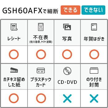 【自動で裁断】オートフィードシュレッダー家庭用・業務用兼用アコ・ブランズ・ジャパンGSH60AFX小型コンパクトカード細断可
